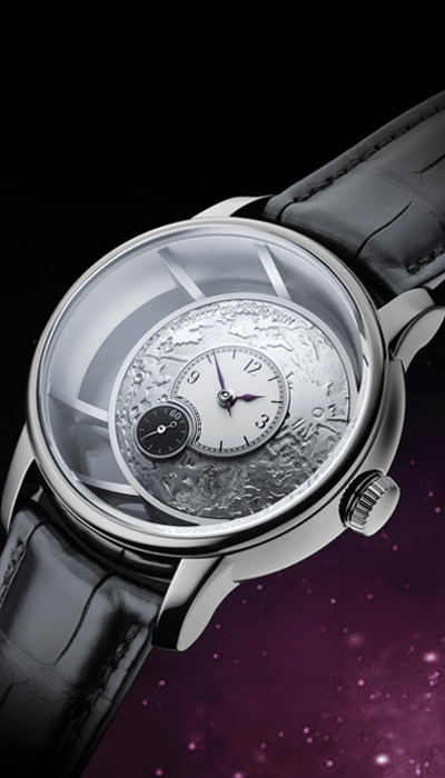 Handcrafted moon motive<br /> with relief engraving